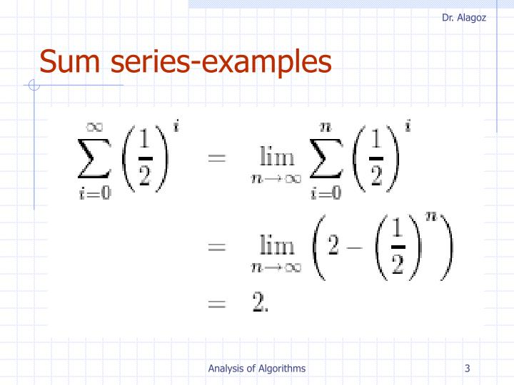 Sum series-examples