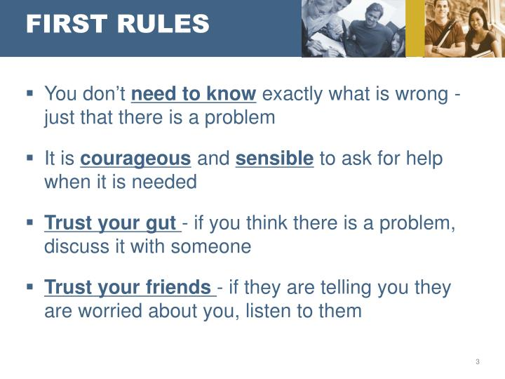 First rules