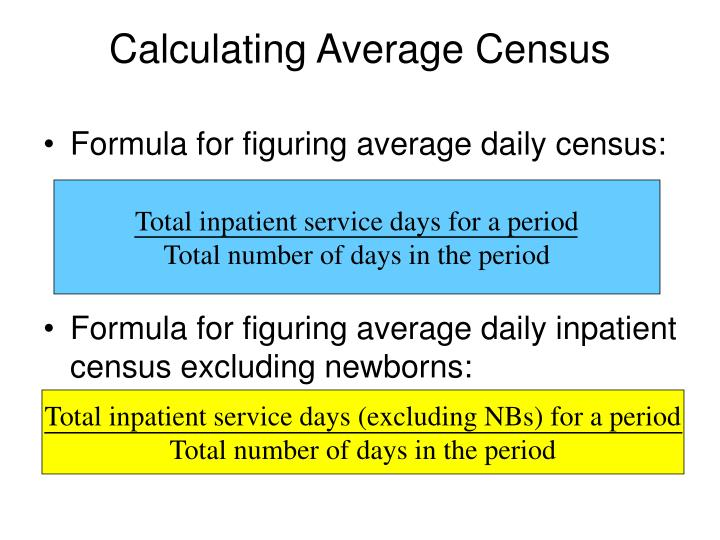 Calculating Average Census