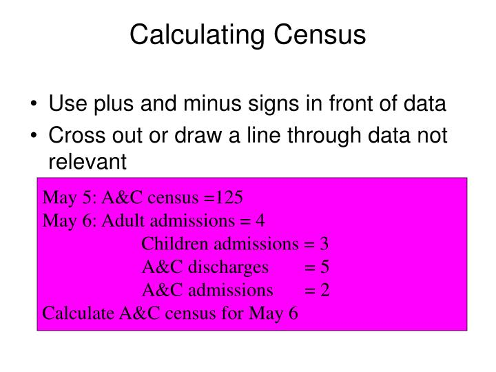 Calculating Census