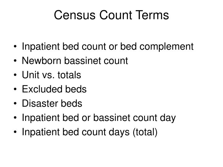 Census Count Terms