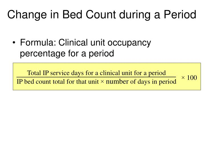Total IP service days for a clinical unit for a period