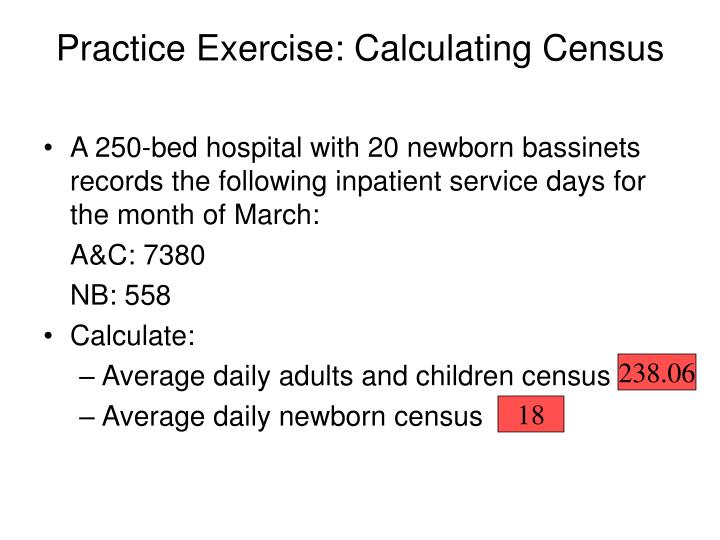 Practice Exercise: Calculating Census