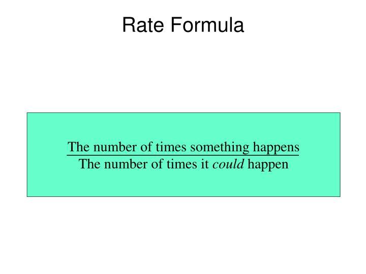 Rate Formula