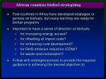 african countries biofuel strategizing