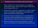 pertinent issues on biofuel policies strategies