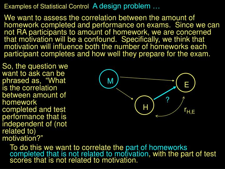 Examples of Statistical Control