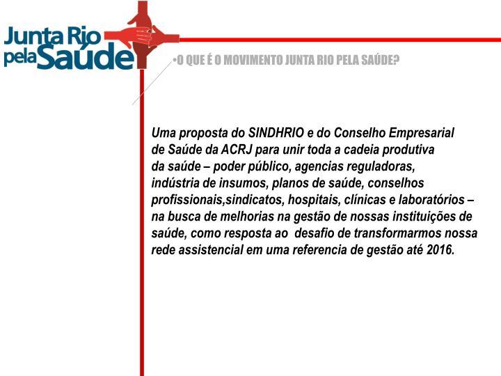 O QUE É O MOVIMENTO JUNTA RIO PELA SAÚDE?