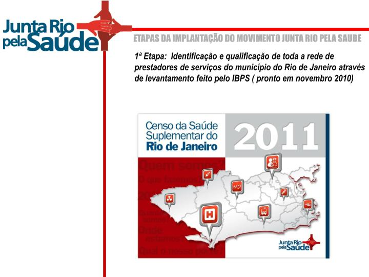 ETAPAS DA IMPLANTAÇÃO DO MOVIMENTO JUNTA RIO PELA SAUDE