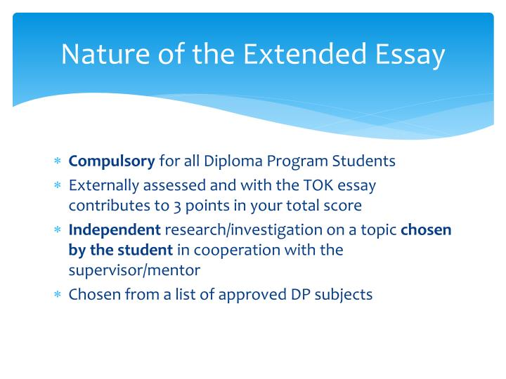 Nature of the Extended Essay