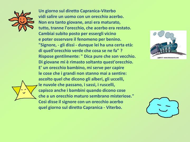 Un giorno sul diretto Capranica-Viterbo