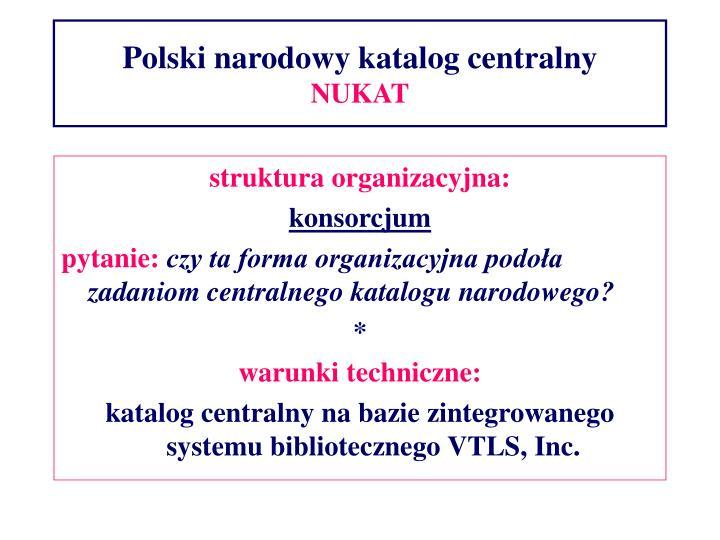 Polski narodowy katalog centralny