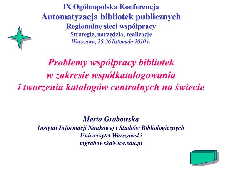 IX Ogólnopolska Konferencja