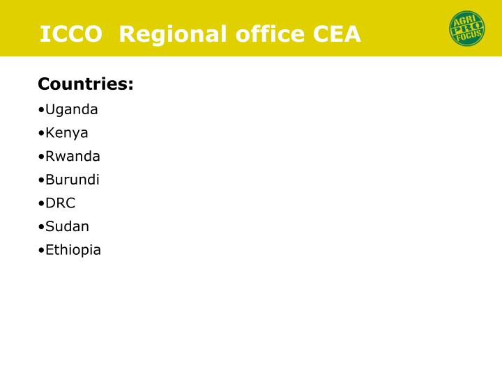 Icco regional office cea