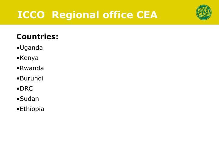 ICCO  Regional office CEA