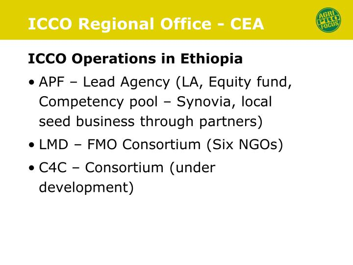 Icco regional office cea2