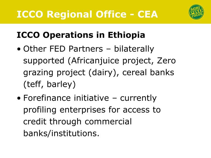 ICCO Regional Office - CEA