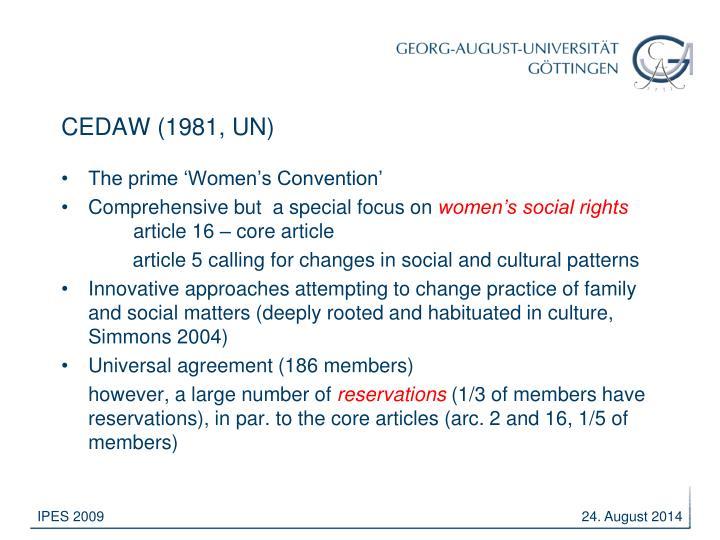 CEDAW (1981, UN)