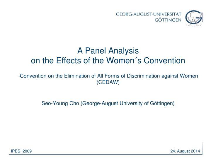 A Panel Analysis