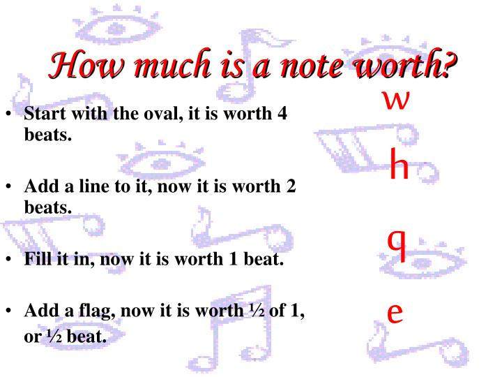 How much is a note worth?
