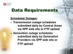 data requirements5