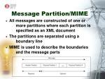message partition mime