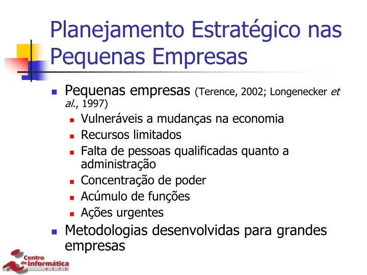 Planejamento Estratégico nas Pequenas Empresas