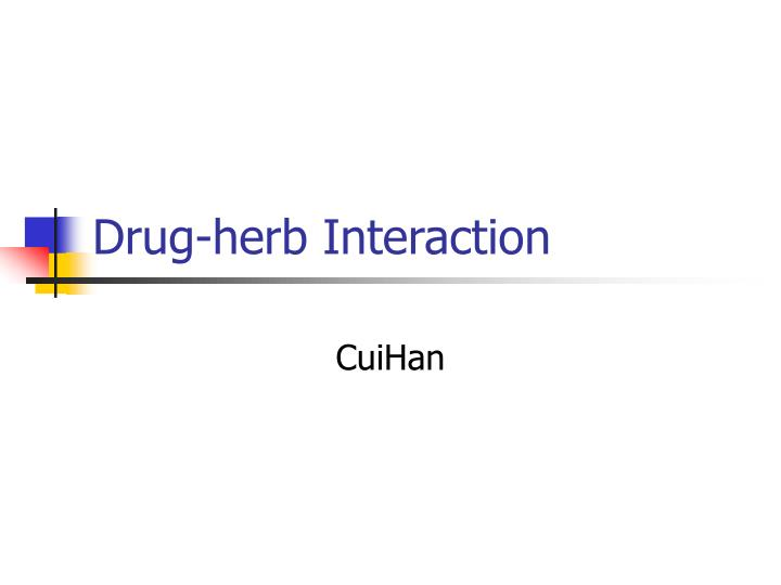drug herb interaction