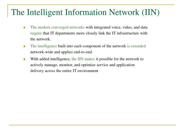 The Intelligent Information Network (IIN)