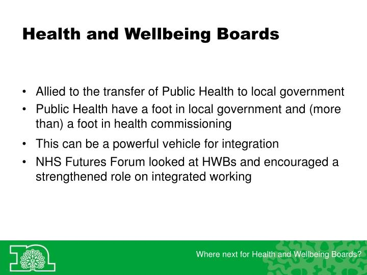 Health and wellbeing boards1