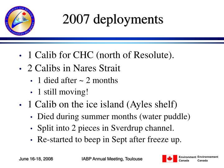 2007 deployments