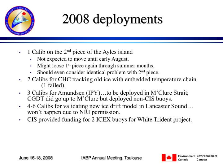 2008 deployments