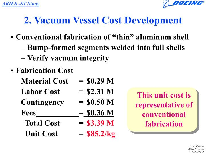 2. Vacuum Vessel Cost Development