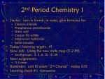 2 nd period chemistry i