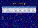 unit 11 groups