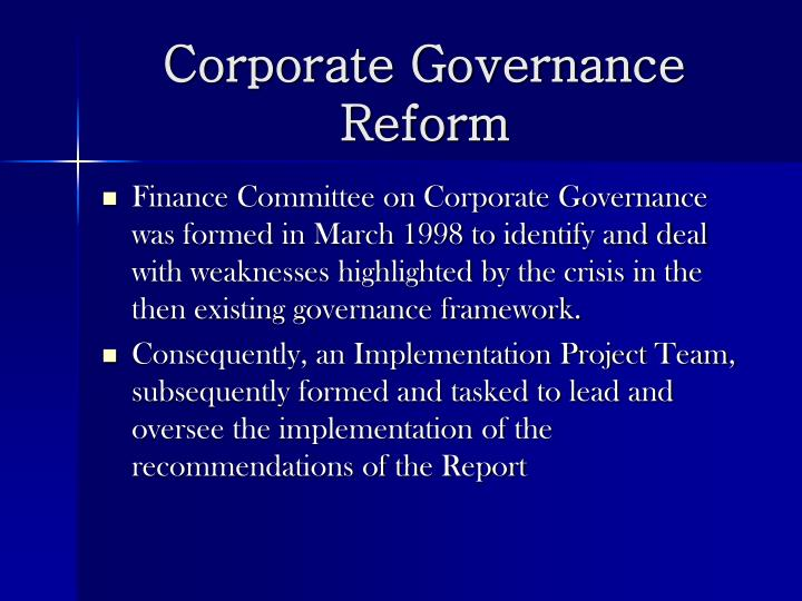 Corporate Governance Reform