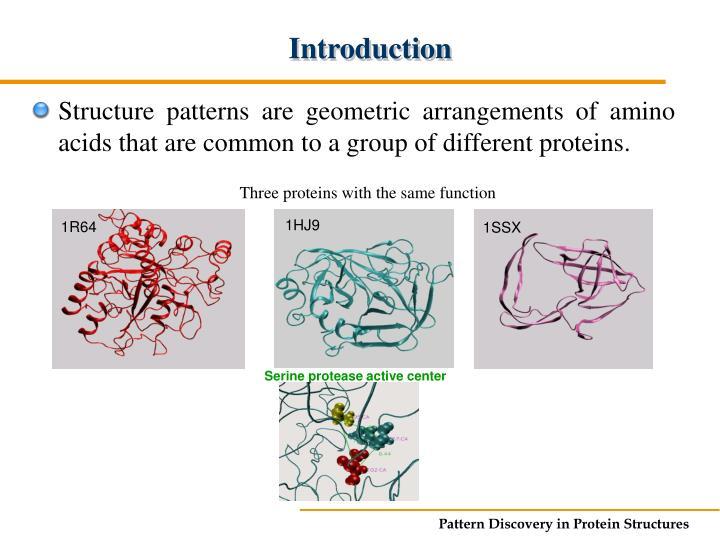 Serine protease active center