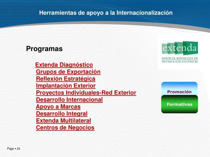 Herramientas de apoyo a la Internacionalización