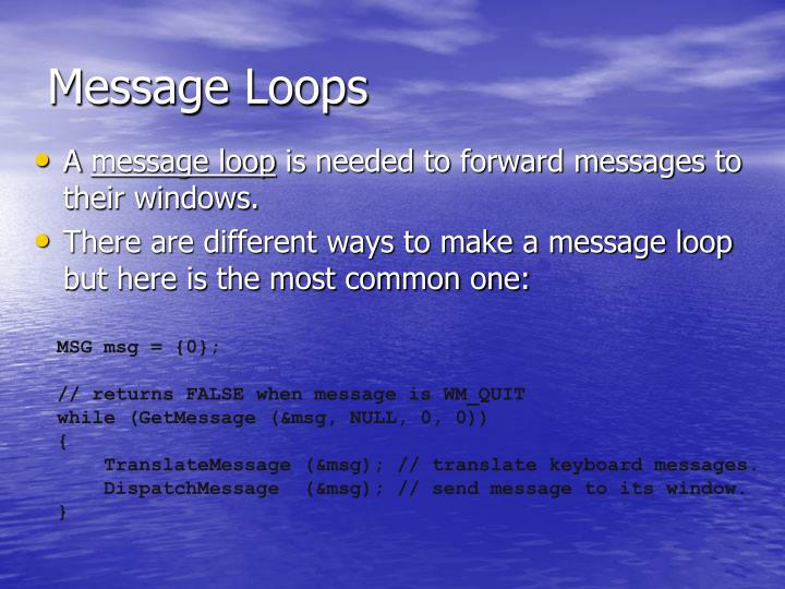 Message Loops