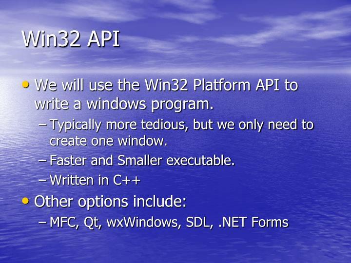 Win32 API