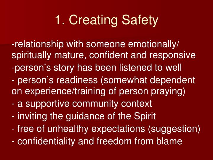 1. Creating Safety