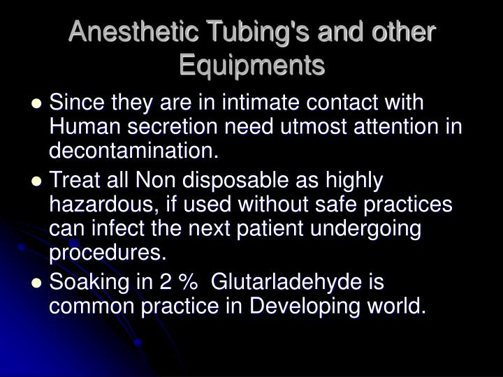 Anesthetic Tubing's and other