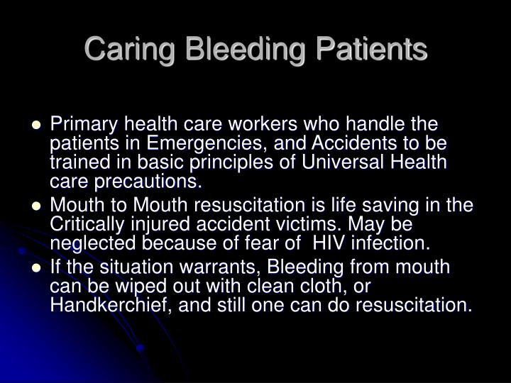 Caring Bleeding Patients