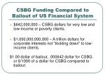 csbg funding compared to bailout of us financial system1