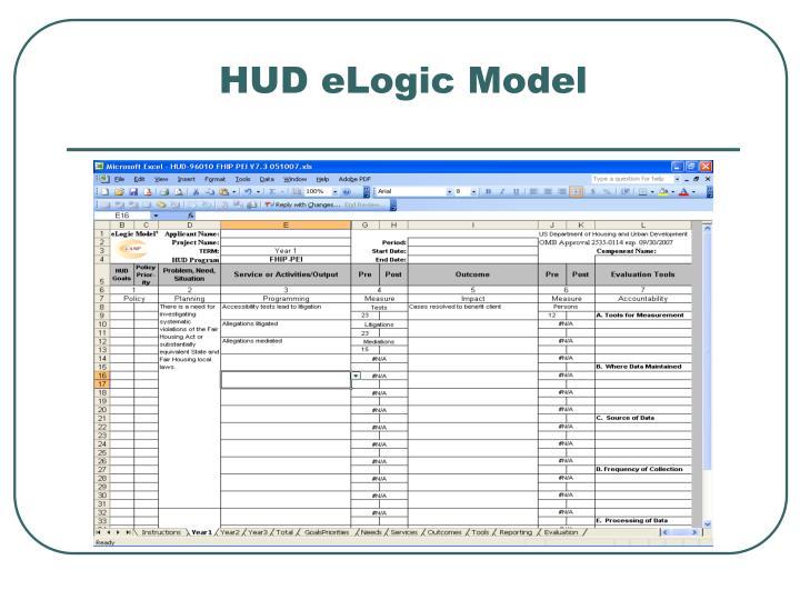 HUD eLogic Model