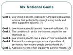 six national goals