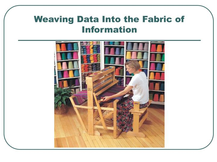 Weaving Data Into the Fabric of Information