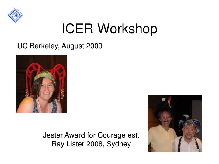 ICER Workshop