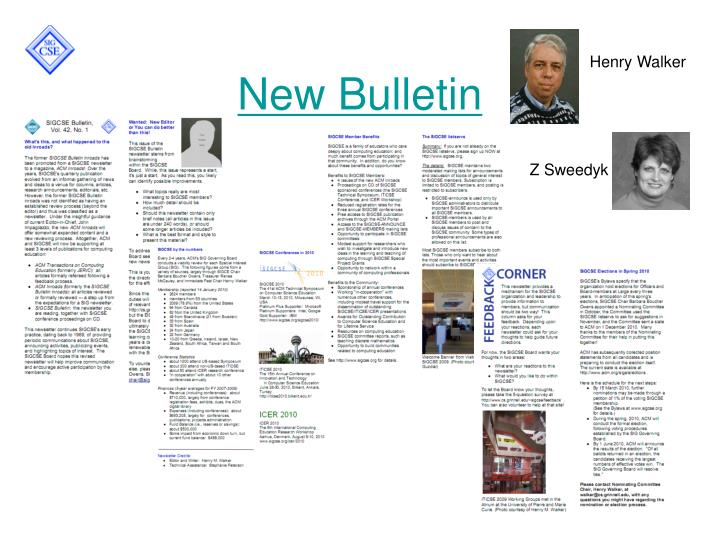 New Bulletin