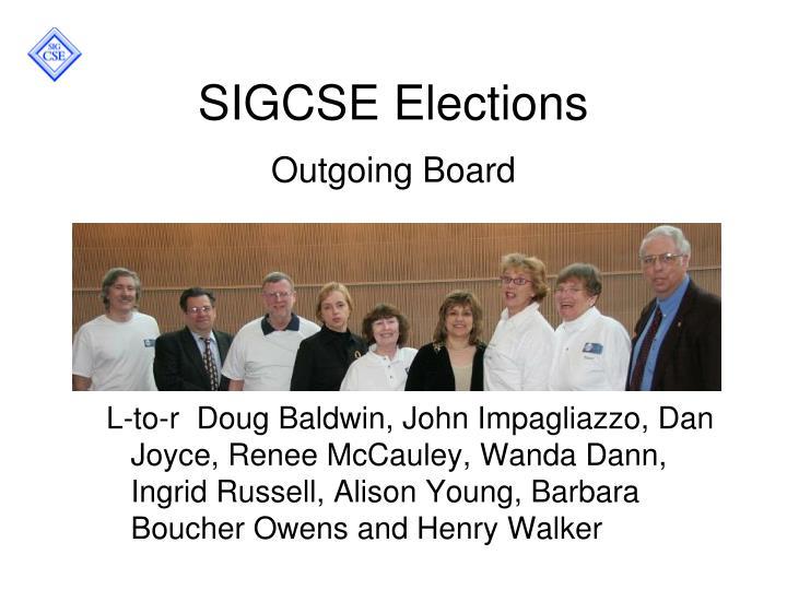 SIGCSE Elections